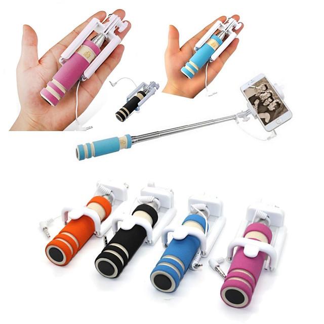 mini modă reglabilă în mână, autoie stick sârmă de control portabil extensibil telefon mobil selfie bastoane