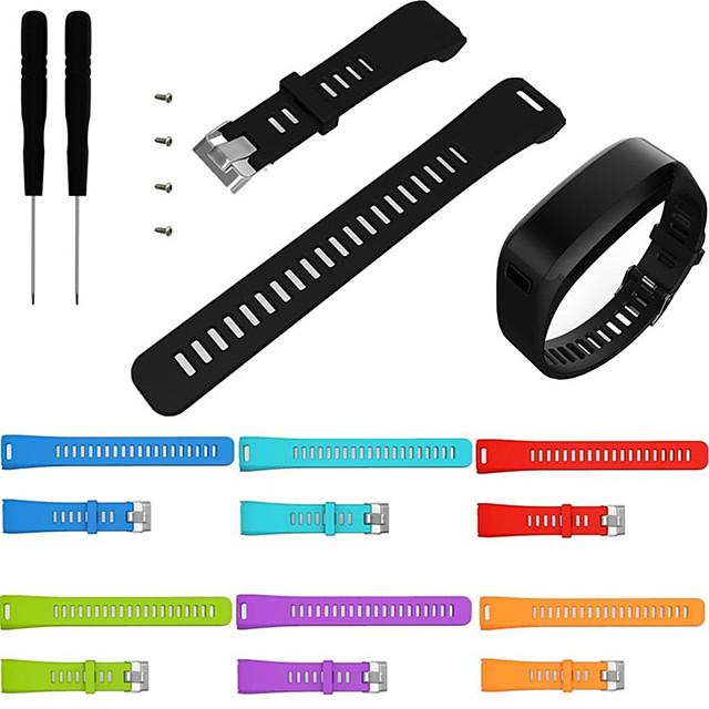 cinturino sportivo in silicone per cinturino da polso in silicone per accessori garmin vivosmart hr