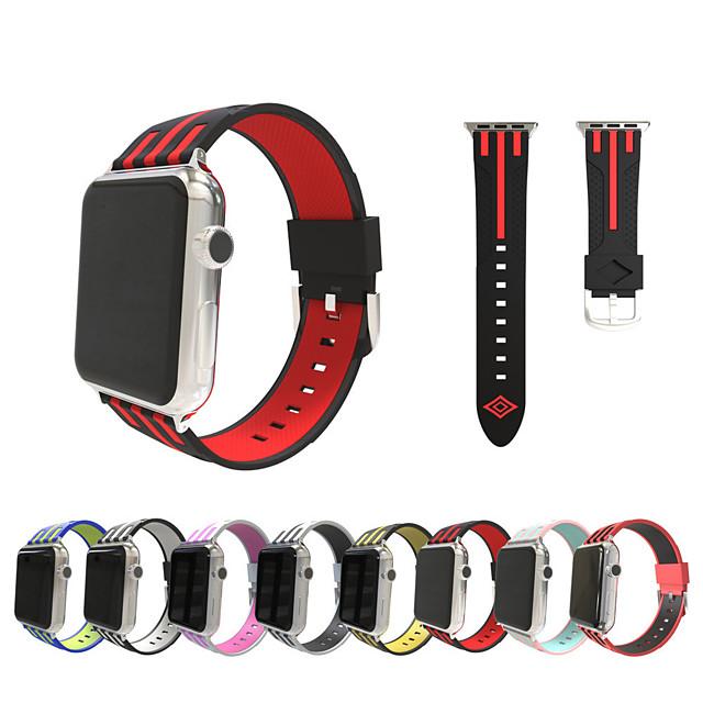 Ремешок для часов для Серия Apple Watch 5/4/3/2/1 Apple Спортивный ремешок / Классическая застежка силиконовый Повязка на запястье