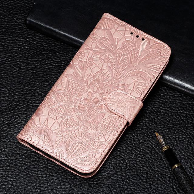 Coque Pour Samsung Galaxy S9 / S9 Plus / Galaxy S10 Portefeuille / Porte Carte / Avec Support Coque Intégrale Fleur Dur faux cuir