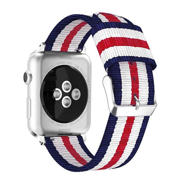 Ремешок для часов для Серия Apple Watch 5/4/3/2/1 Apple Спортивный ремешок / Классическая застежка Нейлон Повязка на запястье