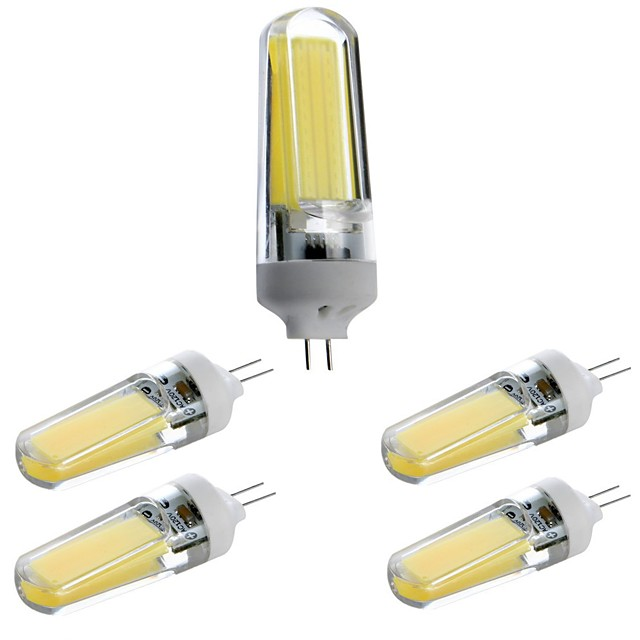 5pcs 3 W LED à Double Broches Ampoules à Filament LED 400 lm G4 T 1 Perles LED COB Intensité Réglable Décorative Adorable Blanc Chaud Blanc Froid Blanc Naturel 220-240 V 110-120 V