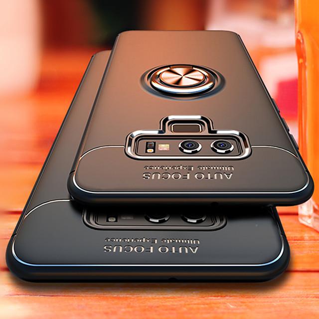 호화스러운 브래킷 반지 shockproof 케이스에 대 한 삼성 갤럭시 참고 전체 커버 9 삼성 메모 8 tpu 부드러운 실리콘 홀더 케이스