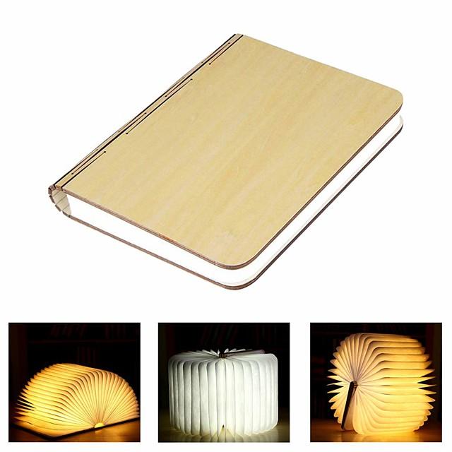 Libro Lampada da tavolo Ricaricabile Pieghevole Facile da portare Li-Batteria integrata 1 pc