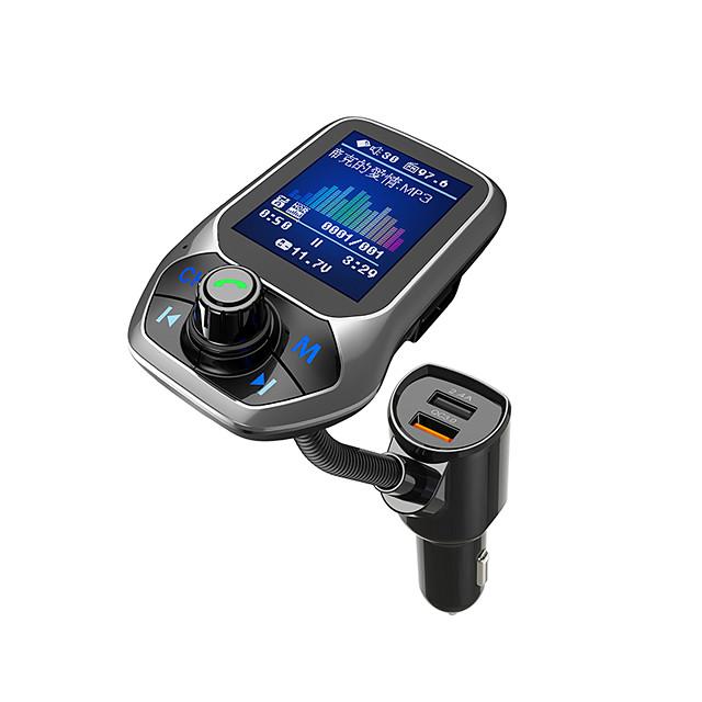 YuanYuanBenBen Bluetooth 3.0 Kit voiture Bluetooth Mains libres de voiture Bluetooth / QC 3.0 / MP3 Automatique