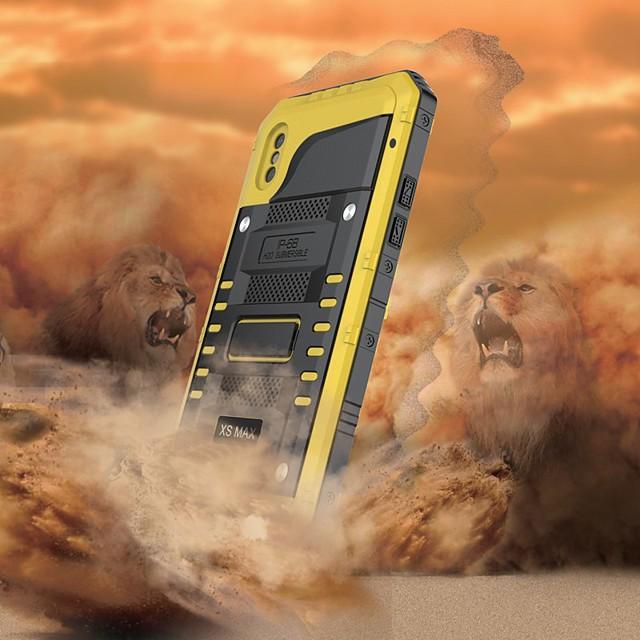 Кейс для Назначение Apple iPhone XS / iPhone XR / iPhone XS Max Водонепроницаемый / Защита от удара Чехол броня Твердый Металл