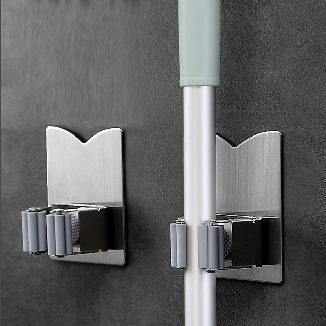 목욕 가운 후크 접착성이 있는 우아한 스테인레스 2pcs - 욕실 벽내장