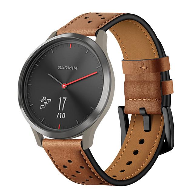 bracelet de remplacement en cuir véritable pour bracelet Garmin vivomove hr smart
