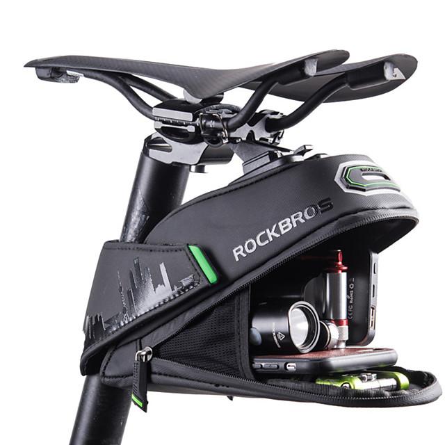 ROCKBROS 1/1.5 L Borsa posteriore laterale da bici Riflessivo Massima capacità Ompermeabile Borsa da bici Tessuto fodera Poliestere PU Marsupio da bici Borsa da bici Bici da strada Mountain bike