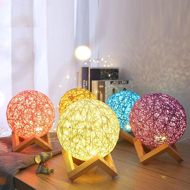 Lampe 3d led table nuit lumière multicolore dessin animé jouet luminaria