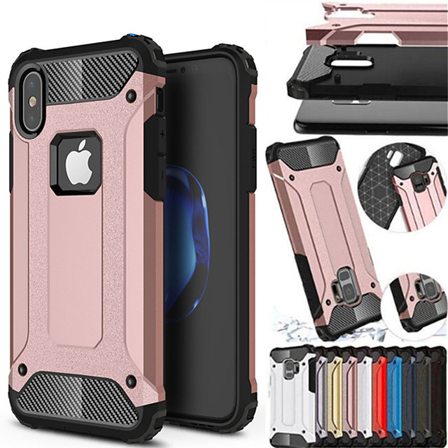 hoesje shockproof cover telefoon geval voor apple iphone xs max xr iphone xs iphone x rubber armor hybride pc hard cover voor iphone 8 plus iphone 8 iphone 7 plus iphone 7 iphone 6 plus siliconen