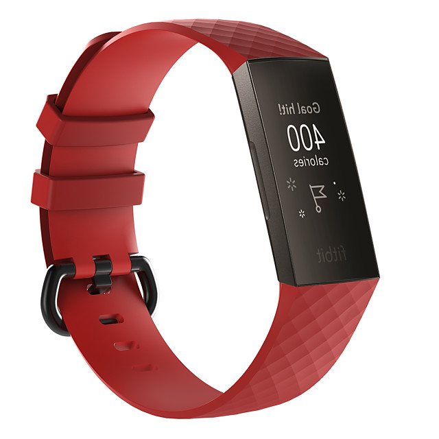 Klokkerem til Fitbit Charge 3 Fitbit Moderne spenne Silikon Håndleddsrem