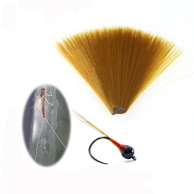 1pc fin diamètre nylon nylon conique mouche flottante attachant mayfly queue fibre perdigon nymphe queues mouche attachant matériel