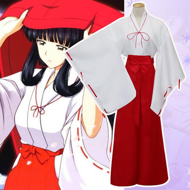 Inspirat de InuYasha Anime cookie Anime Costume Cosplay Japoneză Costume Cosplay Culoare solidă Manșon Lung Geacă Pantaloni Pentru Pentru femei