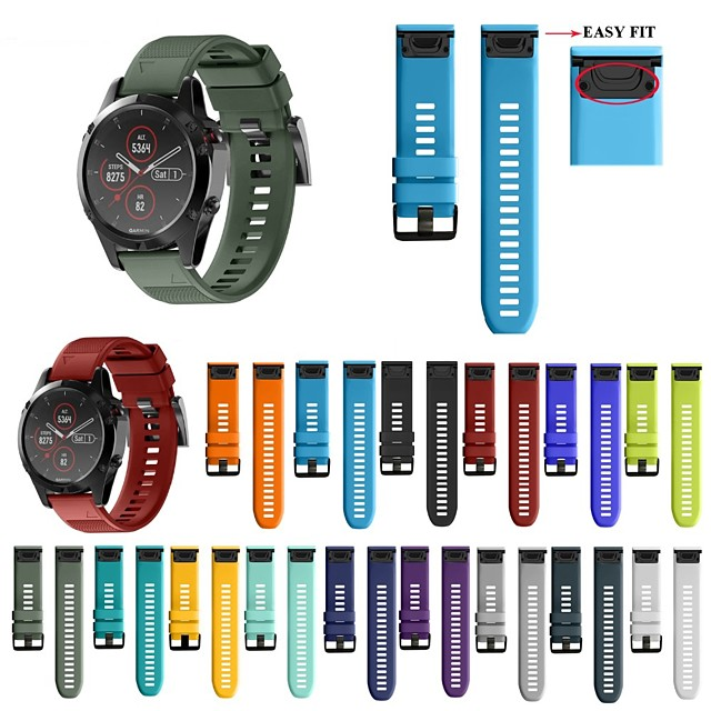 26 22 20mm correa de reloj para garmin fenix 5x 5s 5 3 3 hr para fenix 6x 6 6s reloj de liberación rápida correa de pulsera de silicona easyfit