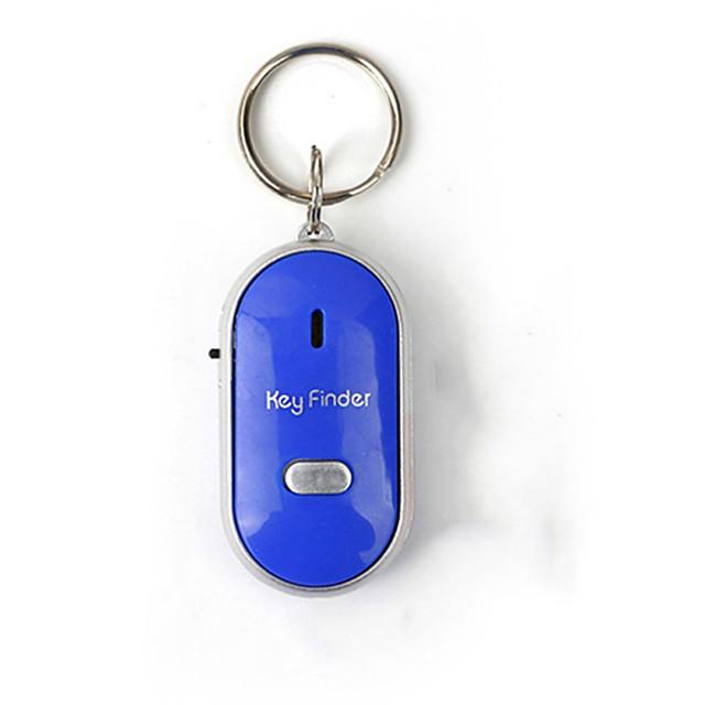 mini sifflet anti clé perdue finder intelligente sans fil clignotant bip bip distant perdu localisateur keyfinder avec led torche