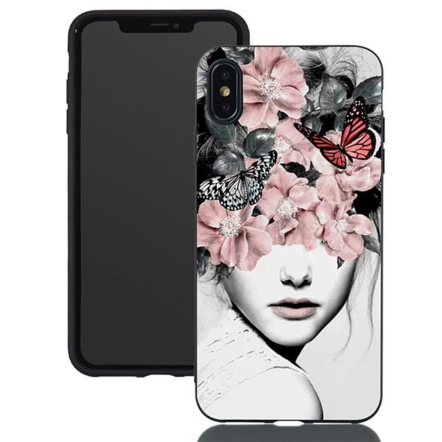 Apple iphone için xr / iphone xs max desen / buzlu / darbeye dayanıklı arka kapak seksi bayan yumuşak tpu için iphone 5 / se / 5 s / 6/6 s artı / 7/8 artı / xs / x
