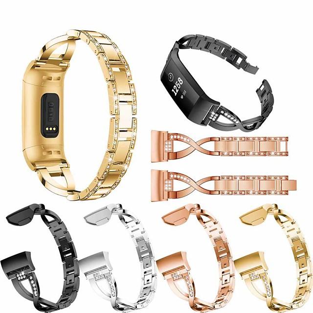 Klokkerem til Fitbit Charge 3 Fitbit Smykkedesign Rustfritt stål Håndleddsrem