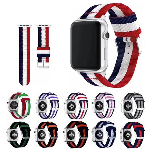 Urrem for Apple Watch Series 5/4/3/2/1 Apple Sportsrem / Klassisk spænde Nylon Håndledsrem