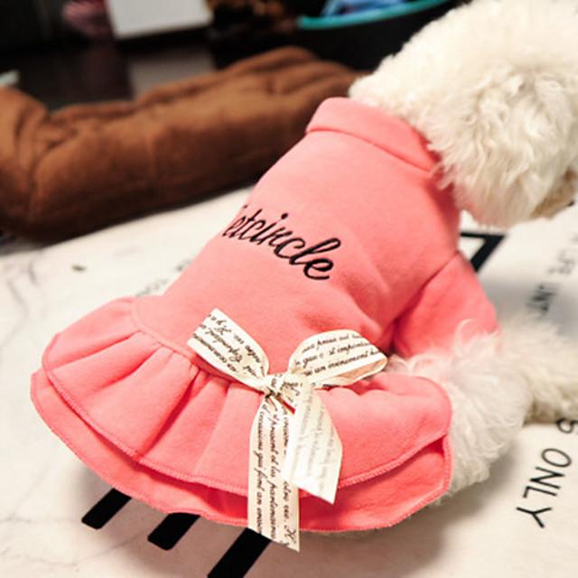 Pisici Câine Tricou Literă & Număr Casul / Zilnic Îmbrăcăminte Câini Roz Costume Bumbac XS S M L
