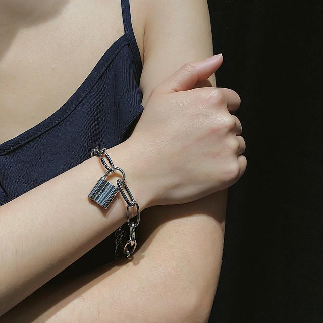 Bracelet Femme Classique Précieux Branché Mode Bracelet Bijoux Dorée Argent pour Cadeau Quotidien Carnaval Vacances Soirée