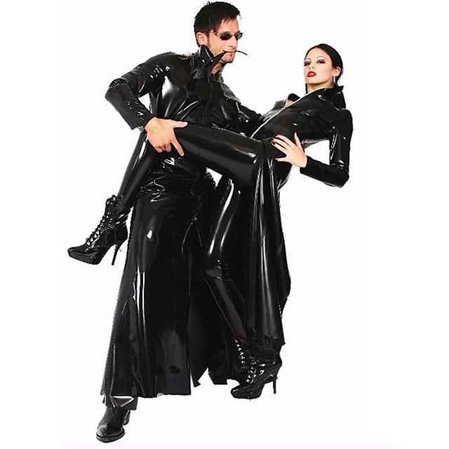 Jas Cosplay Kostuums Superhelden Volwassenen Imitatieleer Cosplaykostuums Cosplay Punk Punk & Gothic Heren Dames Effen Halloween Carnaval Maskerade
