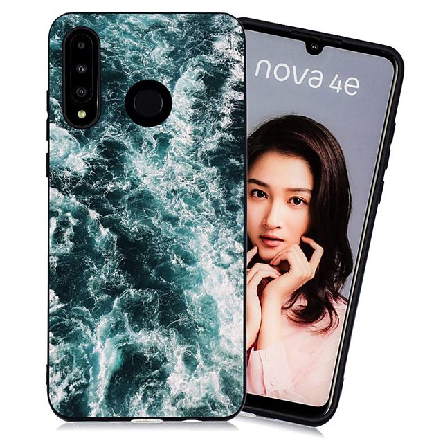 Case For Huawei Huawei P20 / Huawei P20 Pro / Huawei P20 lite Shockproof / Frosted / Pattern Back Cover Scenery TPU