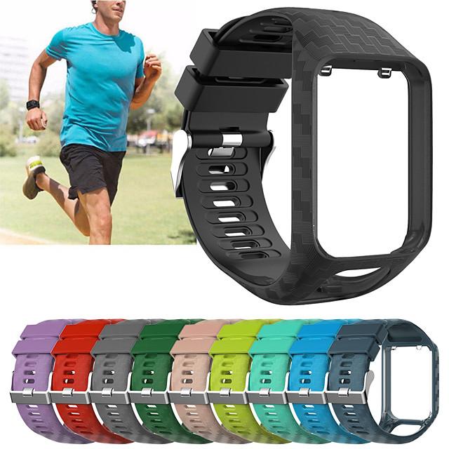 замена силиконовый браслет ремешок для часов ремешок для TomTom бегун 2 / бегун 3 / искра 3 / игрок в гольф 2 браслет ремень аксессуар