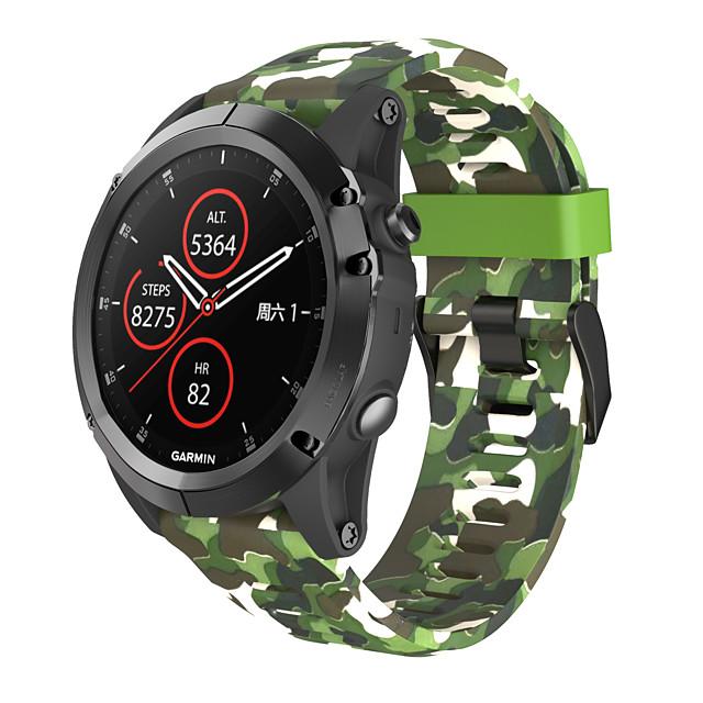 smartwatch الفرقة ل فينيكس 3 / فينيكس 5x / فينيكس 5x زائد غارمين التمويه سيليكون الرياضة الفرقة أزياء حزام لينة