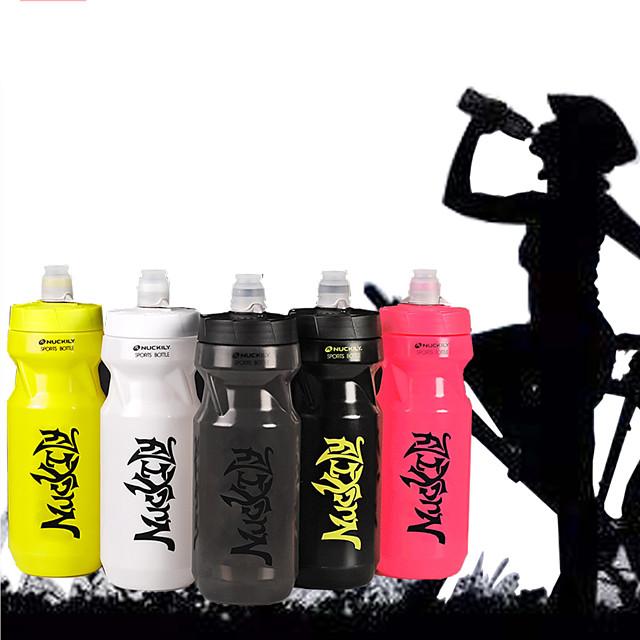 Nuckily Vélo Bidons Sans BPA Portable Poids Léger Bouteille Etanche Non Toxique Pour Cyclisme Vélo de Route Vélo tout terrain / VTT Camping / Randonnée Fonctionnement Extérieur PP Noir Fuchsia Gris