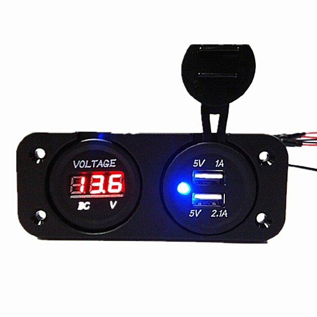 All'aperto / Display a LED 2 porte USB Solo caricabatterie 5 V / 3.1 A