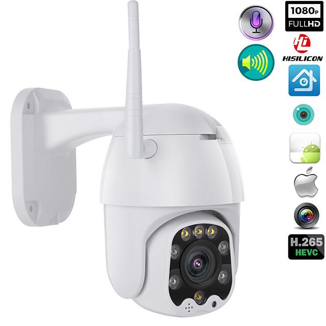 1080p wifi bezdrátový venkovní ptz cmos ip kamera h.265x rychlost dome cctv ip66 vodotěsný obousměrný audio noční vidění vzdálený přístup bezpečnostní kamery wifi exteriér 2mp ir domácí dohled