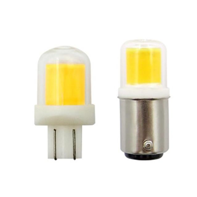 5pcs 5 W Spoturi LED 300 lm T10 BA15d 1 LED-uri de margele COB Model nou Alb Cald Alb 12 V