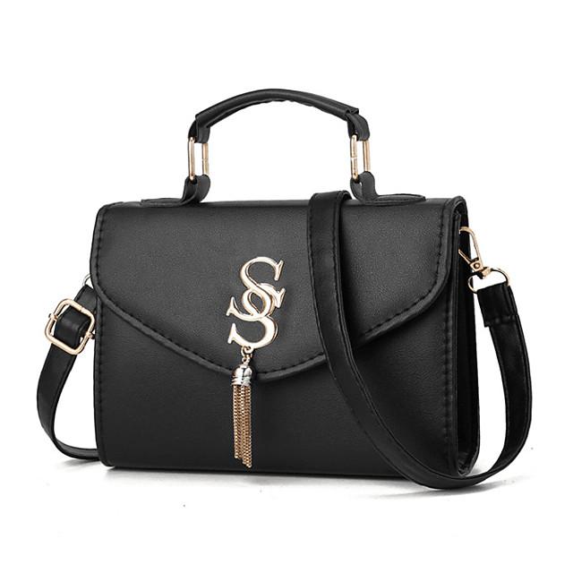 여성용 가방 PU 탑 핸들 백 한 색상 일상 홀리데이 와인 블랙 블러슁 핑크 골드