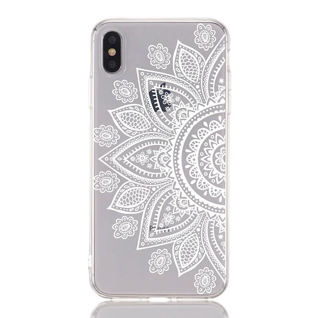 etui za jabuke iphone 8 plus / iphone 6s plus otpornost na udarce / prozirni / uzorak stražnji poklopac cvijet meki tpu za iphone xs / xr / xs max / x / 5 / 5s / se / 6/7 plus / 8