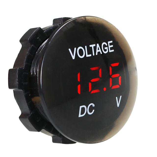 dc 12v-24v display digitale voltmetro impermeabile e antipolvere display digitale per camion auto moto suv barca atv refit accessori