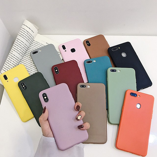 Coque Pour Apple iPhone 12 / iPhone 12 Mini / iPhone 12 Pro Max Antichoc Coque Couleur Pleine Flexible Le gel de silice