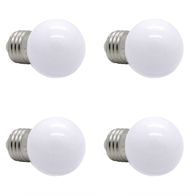 4本 1 W LEDボール型電球 90-120 lm E26 / E27 G45 12 LEDビーズ SMD 2835 装飾用 温白色 ナチュラルホワイト ホワイト 220-240 V
