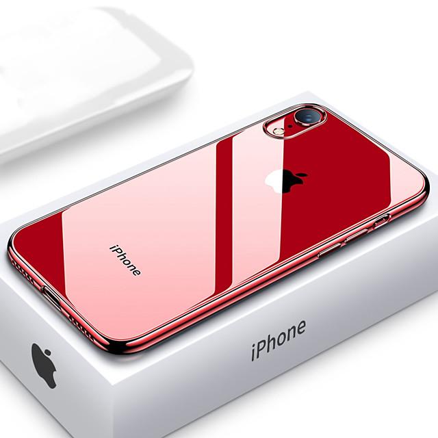 telefono Custodia Per Apple Per retro Silicone Custodia in silicone iPhone 12 Pro Max 11 SE 2020 X XR XS Max 8 7 6 Resistente agli urti Placcato Ultra sottile Transparente Morbido TPU Silicone