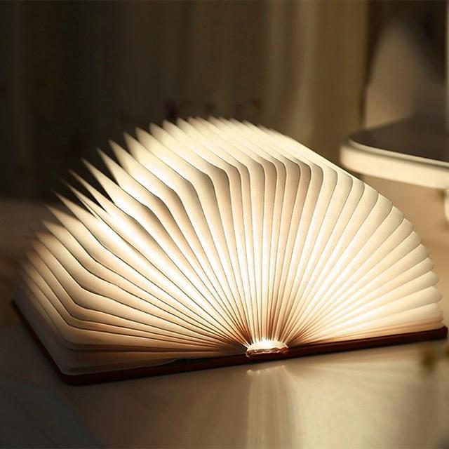 Lampe de chevet Ampoules LED lampe de table de livre lampe de nuit pliable rechargeable magnétique pour table de chevet étagère à livres ou table basse cadeau de noël