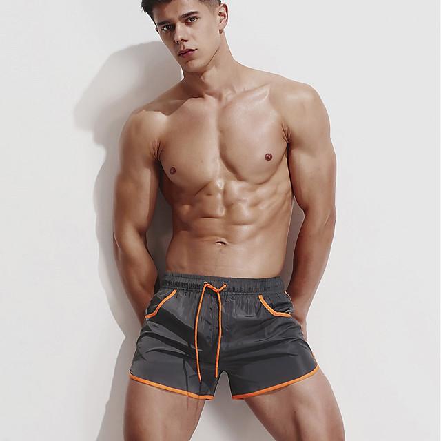 Muškarci Aktivan Osnovni Slim Sportske hlače Kratke hlače Hlače Jednobojni Klasičan Crn Bijela Navy Plava / Vezica