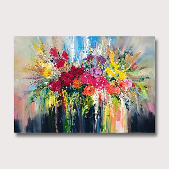 peinture à l'huile peint à la main abstrait floral / botanique moderne toile roulée roulée sans cadre