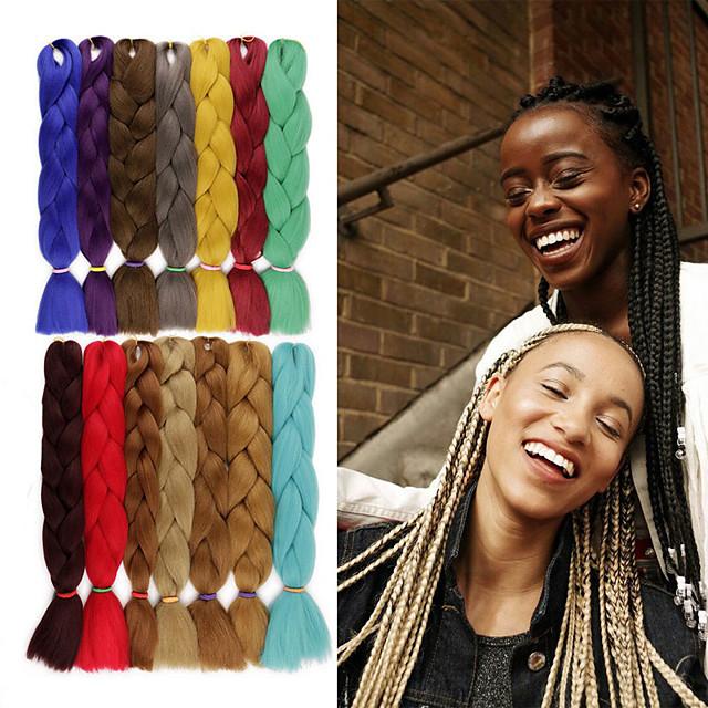 Crochet Hair Braids Jumbo Box Braids Cheveux Synthétiques Rajouts de Tresses 1 pc / paquet