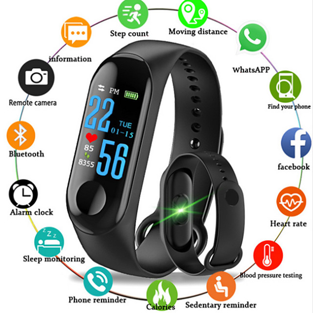 Смарт Часы Цифровой Современный Спортивные силиконовый 30 m Защита от влаги Пульсомер Bluetooth Цифровой На каждый день На открытом воздухе - Черный Красный Синий