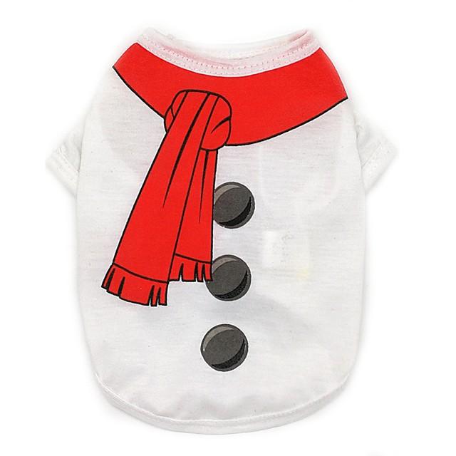 Chien Tee-shirt Vêtements pour chiots Classique Britannique Noël Style classique Noël Vêtements pour Chien Vêtements pour chiots Tenues De Chien Blanche Rouge Vert clair Costume pour fille et garçon