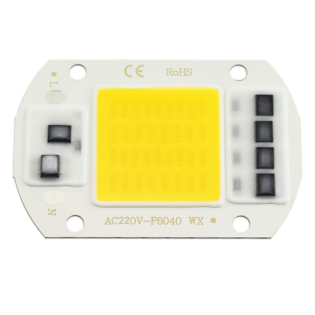 Zdm 1 pc led cob chip 20 w 30 w 50 w ac220v morno branco / branco frio motor de luz integrado motorista inteligente ic