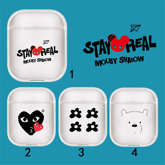 Bolsa de auriculares Estilo Simple Apple Airpods A prueba de arañazos Goma de Silicona