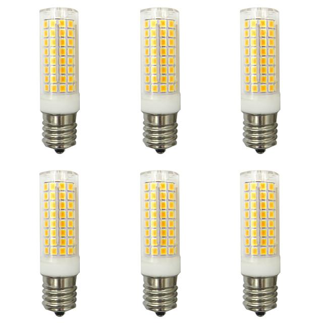 6PCS 10 W LED 콘 조명 1000 lm E14 G9 E12 T 102 LED 비즈 SMD 2835 뉴 디자인 따뜻한 화이트 차가운 화이트 220-240 V 110-120 V