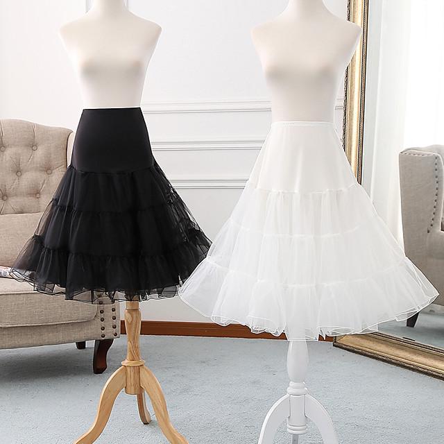 Danse classique Outlander Classic Lolita Années 50 robe de vacances Jupon Tutu Sous jupe Crinoline Femme Fille Tulle Costume Blanche / Noir / Violet Vintage Cosplay Soirée Utilisation Princesse