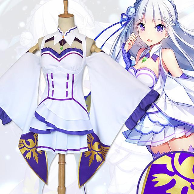Inspirado por Re:Zero Starting Life in Another World kara hajimeru isekai seikatsu Cosplay Animé Disfraces de cosplay Japonés Trajes Cosplay Vestido Calcetines Para la Cabeza Para Mujer